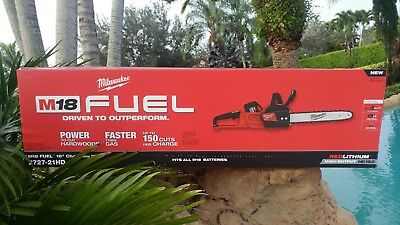 "Milwaukee 2727-21HD  M18 18V FUEL 16"" Cordless Chainsaw Kit Incl. 12 Ah Battery!"