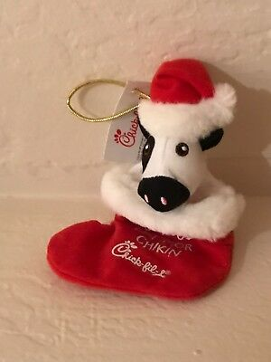 Chick-fil-A 2018 gift card holder: COW in STOCKING: can use as ornament
