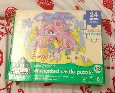 ELC ENCHANTED CASTLE Puzzle 3-6 Years  With Glitter And Gloss  24 Pieces