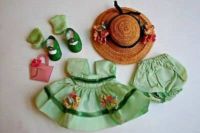 Vintage Vogue Ginny Doll Clothing Medford Tagged Dress Hat Center Snap Shoes #3