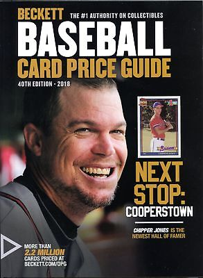 Beckett Annual Baseball Card Price Guide 2018 40th Edition Chipper Jones