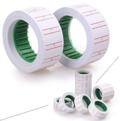 10Rolls White Price Pricing Label Paper Tag Tagging For MX-5500 Labeller Gun NEW