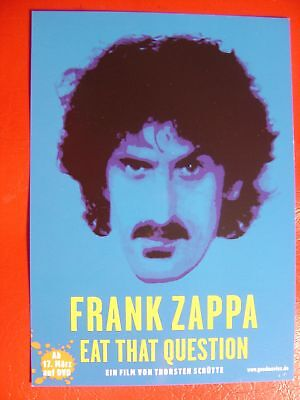 AK Postkarte  Frank Zappa Eat that Question Werbekarte  blau