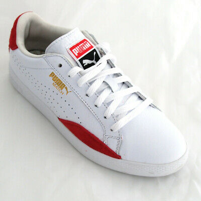 PUMA MATCH LO Basic Sports Lace Up White Womens Leather Trainers ... 4c0e1b9823f9