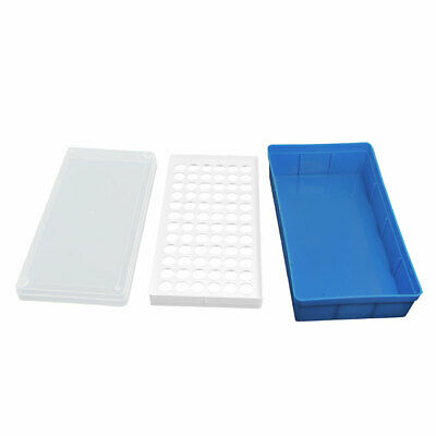 Plastic Rectangular 72 Positions Laboratory 1.5ml Centrifuge Tube Case Box