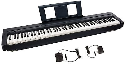 Yamaha P45 88-Key Weighted Action Digital Piano with Sustain Pedal and Power ...