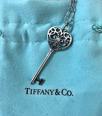 d362af969 TIFFANY CO. KEY Pendant Enchant Dragonfly Chain Jewelry Diamonds ...