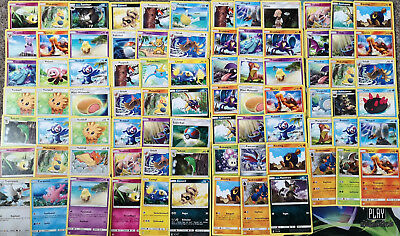 Pokemon 80 Karten aus Sonne&Mond Basis Set Sammlung