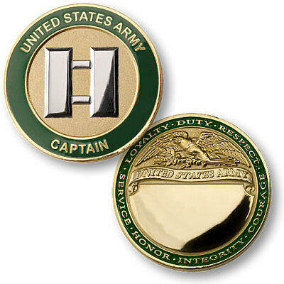 U.S. Army / Captain - Brass Challenge Coin