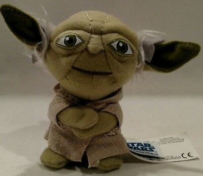"Star Wars 4"" stuffed •Talking Yoda• keychain Lucasfilm Ltd. 2011 PRE-OWNED"