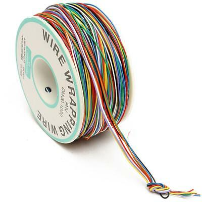 Wire Wrapping Cable Wrap 250M 8-Wire Colored Insulated P/N B-30-1000 30AWG Fine