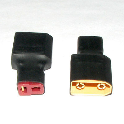 2x XT90 male & T plug female wire conversion adapter RC model battery connector
