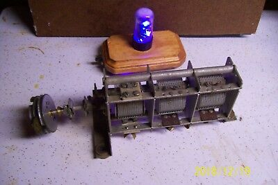 HALLICRAFTERS RADIO PARTS SX71 C-1 Capacitor, MAIN TUNING ( 3 SECTION )