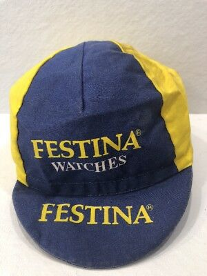 Vintage Festina Cycling Cap Rossin Made in Italy Pro Team add8f4ad7173