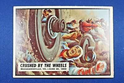 "1962 Topps Civil War News - #23 ""Crushed By The Wheels"" - VG/Ex Condition"