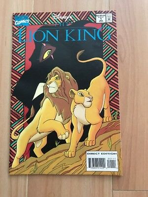 "Disney's ""The LION KING""  #1 1994 Marvel COMIC BOOK Direct Edition (7.0 Fine)"