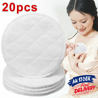 20pcs Reusable Breast Pads Nursing Organic Plain Washable Pad