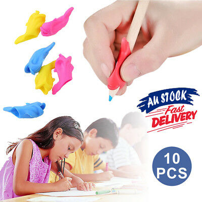 10pcs Kids Children Hand Writing Pen Posture Holder Pencil Grip Correction Aid