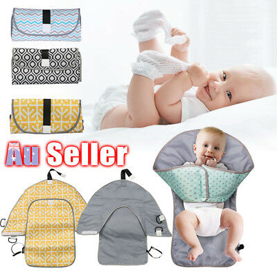 Travel Home Change Pad Baby Diaper 3-in-1 Organizer Bag Changing Mat Waterproof