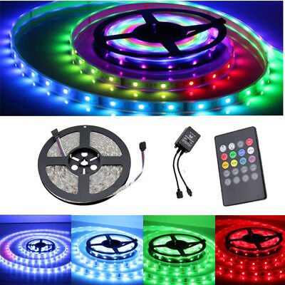 Waterproof 5050 RGB LED Strip Light 300 LED+ Remote+ Power Outdoor Indoor Xmas