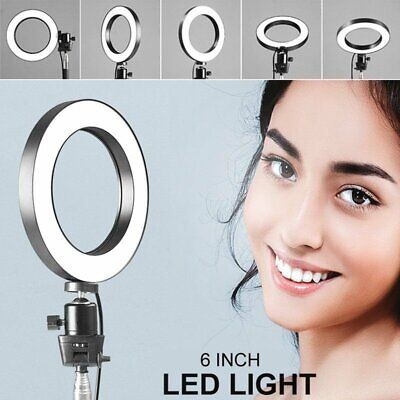 6 inch Dimmable Studio LED Ring Light Photo Video Lamp For Makeup Camera Selfie