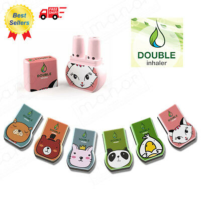 New Double Inhaler Nasal Cold Relief Dizzy Cute Cartoon Menthol Congestion Gift