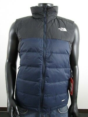 NWT Mens TNF The North Face Gatebreak 550-Down Vest Insulated Navy   Black 01bcf2012