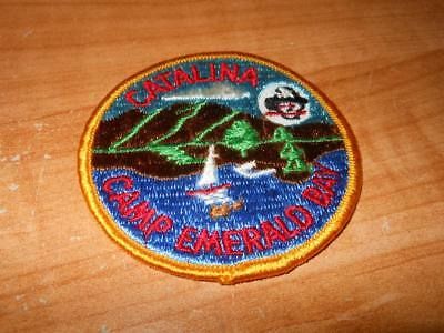 Rare Vintage Bsa Boy Scouts Catalina Camp Emerald Bay Patch California