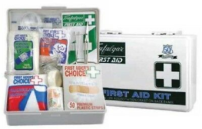 Brady VEHICLE & LOW RISK FIRST AID KIT BRD856656 187x122mm With Hard Case WHITE