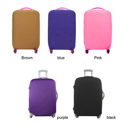 Travel High Elastic Solid Color Dust-proof Luggage Suitcase Protective Cover ec