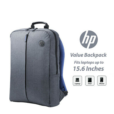 "HP 14"" 15"" 15.6"" Value Laptop Backpack Breathable Mesh Covered Travel K0B39AA"