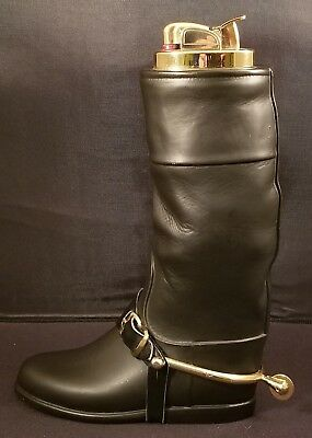 Vintage Evans Fine China Riding Boot Table Lighter With Removeable Spur