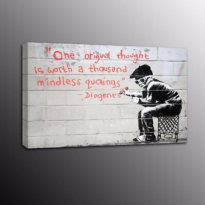 Banksy Art Canvas Print Street Art Picture Wall Painting Boy Home Decor-No Frame