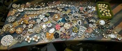 Antique/Vintage Lot Of High End Mostly Signed Costume Jewelry Glass Beads