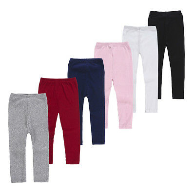 Infant Baby Girls Winter Leggings Solid Knee-length Pants Warm Cotton Clothes