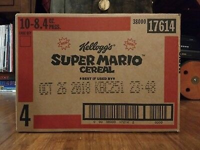 Kellog's Super Mario Cereal Limited Edition Case of 10 SEALED UNOPENED Nintendo