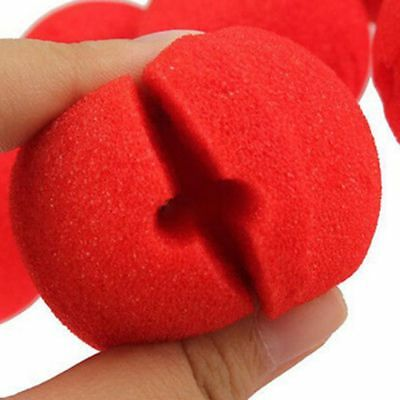 10 PCs Foam Red Ball Circus Clown Nose Comic Party Halloween Costume Magic Dress