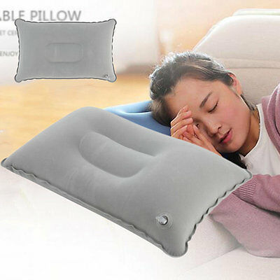 Portable Fold Outdoor Travel Sleep Pillow Air Inflatable Cushion Break Rest KY