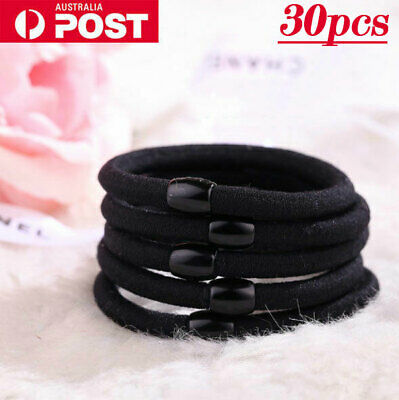 Black Women Girl Elastic Hair Ties Band Ropes Ring Ponytail Holder Accessories
