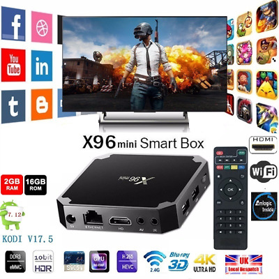 1x X96mini Smart Android 7.1 TV Box S905W Quad Core H.265 2GB / 16GB WiFi Media
