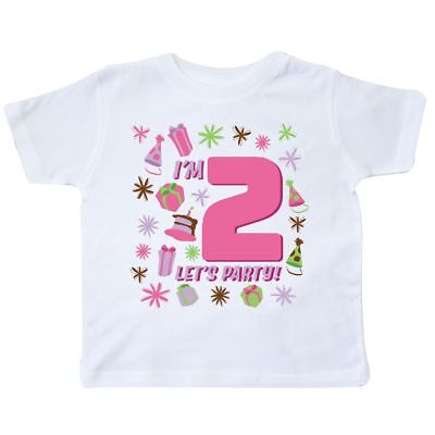 8667d4fa I'M TWO LET'S Party Toddler Shirts Girl Boy Infant Shirts Two Year ...