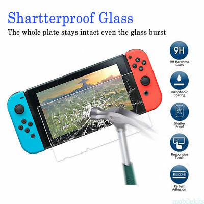 2pcs Premium Real Tempered Glass Film Screen Protector Skin For Nintendo Switch