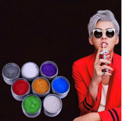 Unisex DIY Hair Color Wax Mud Dye Cream Temporary Modeling 7 Colors Mofajang
