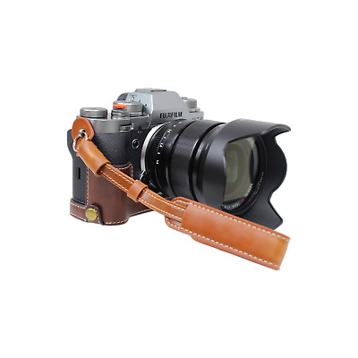 Coffee PU Leather Camera Adjustable Hand Wrist Strap Compatible w/ Sony,Nikon