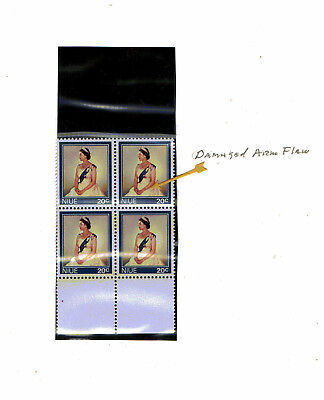 "Niue - 1969 - ""Arm Flaw"" on 20¢ QEII in BLK/4 - SC 130 [SG 149] MNH 18"