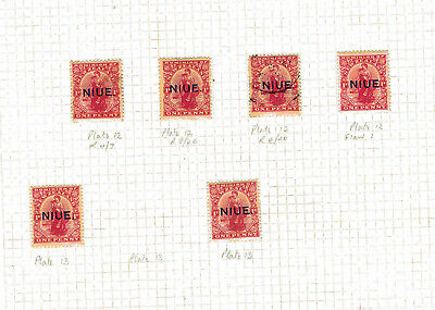 Niue - 1917-21 - Plate # & Position Study of 1d Issue - SC 22  [SG 24] Mint 18