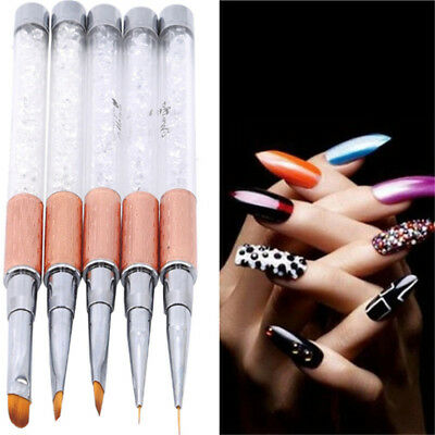 Nail Art Liquid Powder Carving French Flower Stripe Painting Drawing Pen LH