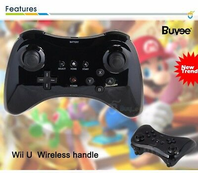 Wireless Bluetooth Remote Controller Gamepad Black for Nintendo Wii U Pro