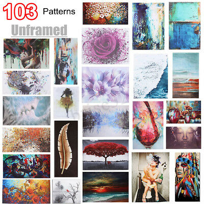Unframed Abstract Oil Canvas Print Paintings Picture Posters Home Wall Art Decor