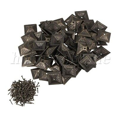 100pcs Bronze Iron Vintage Square Upholstery Nails for Europe Sofa Classic Door